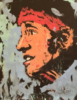 Bruce Springsteen 1988 72x53 The Boss Original Painting - Denny Dent