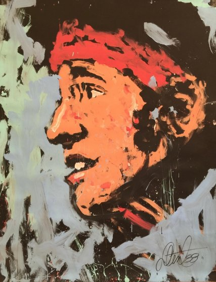 Bruce Springsteen 1988 72x53 The Boss Original Painting by Denny Dent