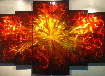 Abstract Sensualism Metal Sculpture 2012 65x48 Original Painting - Chris DeRubeis