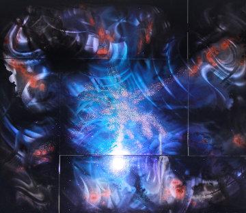 Sunshine,  5 Panels 2012 42x48 Huge Original Painting - Chris DeRubeis