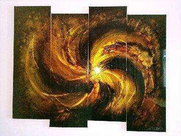 Star Burst 2010 38x40 Huge Original Painting - Chris DeRubeis