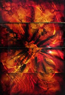 Burst 36x48 Huge  Original Painting - Chris DeRubeis