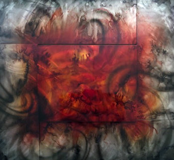 Sunshine 42x46 Huge Original Painting - Chris DeRubeis