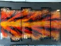 Red Shock Wave 38x67 Original Painting - Chris DeRubeis