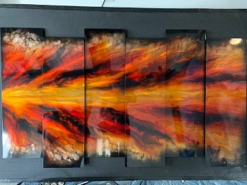 Red Shock Wave 38x67 Original Painting by Chris DeRubeis
