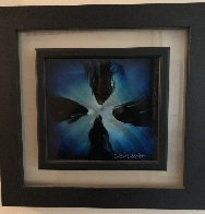 Mini Burst 2015 Blue 20x20 Original Painting by Chris DeRubeis - 2