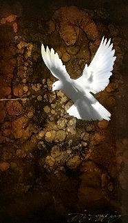 Heaven's Dove 2014 20x12 Original Painting by Chris DeRubeis