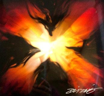 Mini Burst Elements (Set of 4)  Original Painting by Chris DeRubeis