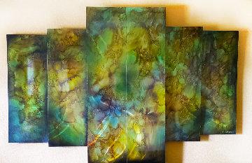 Untitled Multi-Panel Painting 2009 46x72 Original Painting by Chris DeRubeis