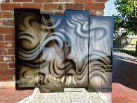Platinum Abstract Painting, 4 Panels, 2014 44x35 Huge  Original Painting by Chris DeRubeis - 2