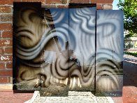 Platinum Abstract Painting, 4 Panels, 2014 44x35 Huge  Original Painting by Chris DeRubeis - 3