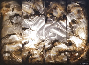 4 Panel Bronze Sculpture 2019 36x48 Sculpture - Chris DeRubeis