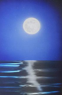Blue Moon 2014 36x24 Original Painting - Chris DeRubeis
