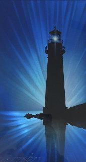 Lighthouse 2015 18x10 Original Painting - Chris DeRubeis