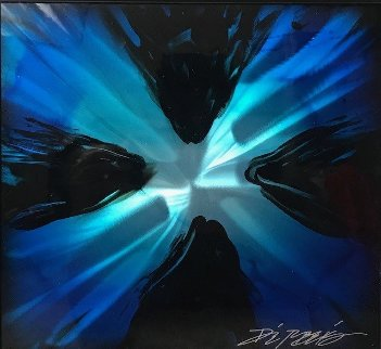 Mini Burst - Blue  2015 20x20 Original Painting - Chris DeRubeis