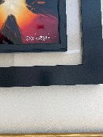 Mini Burst Red 2015 21x22 Original Painting by Chris DeRubeis - 2