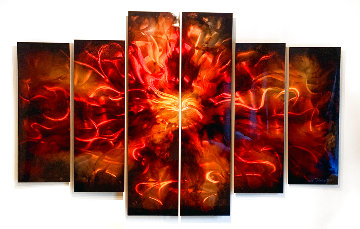 Untitled Painting, Six Panels 2011 48x72 Original Painting - Chris DeRubeis