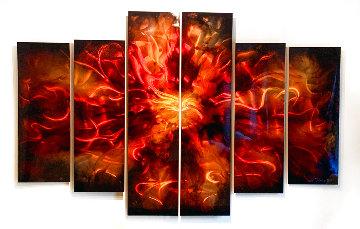Untitled Painting, Six Panels 2011 48x72 Super Huge Original Painting - Chris DeRubeis