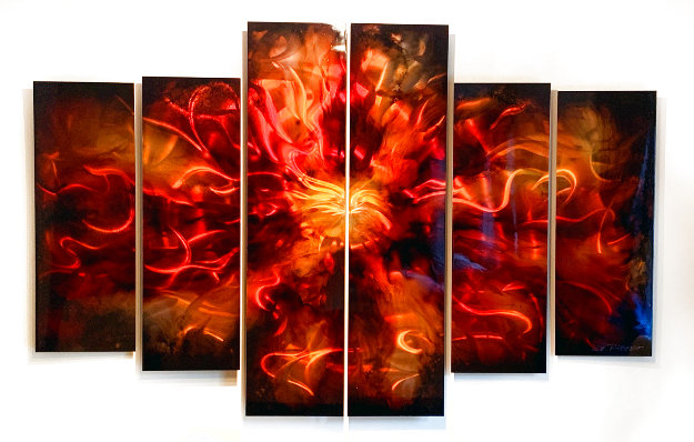 Untitled Painting, Six Panels 2011 48x72 Original Painting by Chris DeRubeis