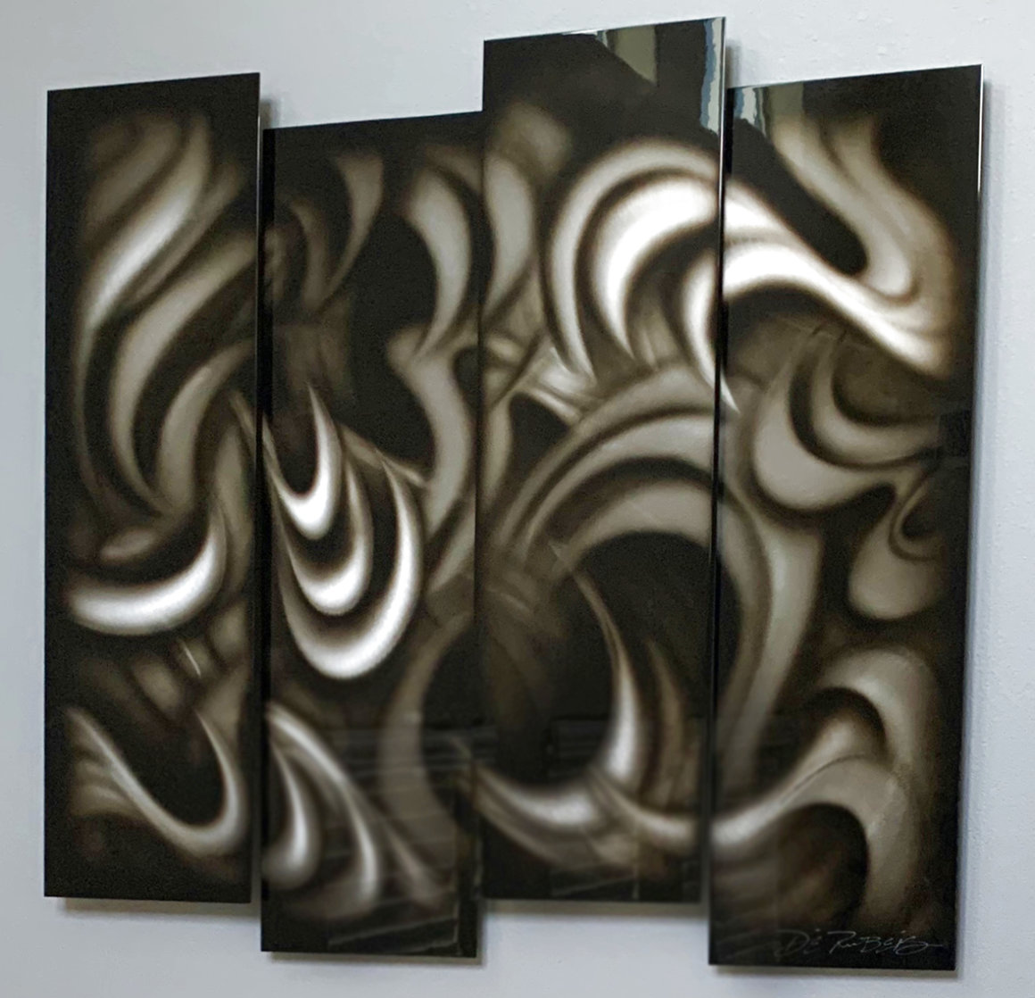 Platinum (Four Panels) 2013 35 in Original Painting by Chris DeRubeis
