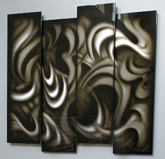 Platinum (Four Panels) 2013 11x35 Original Painting - Chris DeRubeis