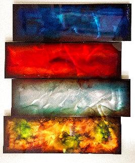 Elements 2013 36x47 - 4 Panels Original Painting - Chris DeRubeis