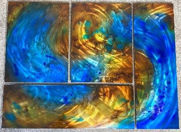 Ocean Sands Quadriptych Original 48x36 Huge Original Painting - Chris DeRubeis
