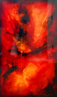 Abstract Special Unuique 2018 40x20 Original Painting - Chris DeRubeis