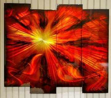 Starfire Quadtych, Four Panels 2016 35x44 Huge Original Painting - Chris DeRubeis