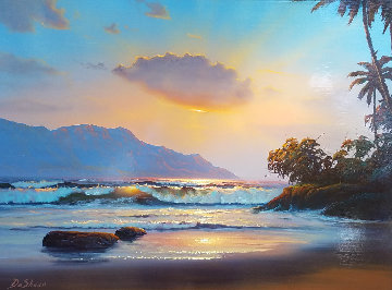 Hawaii Palekaiko 31x25 Original Painting - William DeShazo