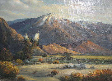 Untitled Mountain Landscape 1967 Original Painting - William DeShazo