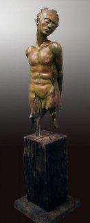 Le Courage Bronze Sculpture 2012 45 in Sculpture by Andre Desjardins