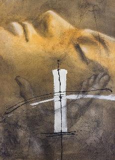 Moment Parfait 2010 56x42 Huge Original Painting - Andre Desjardins