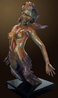 Devenir Bronze Sculpture, With Limited Edition Sketch on Paper 2011 32 in Sculpture by Andre Desjardins