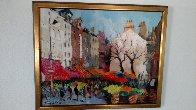 Paris Street Scene 1990 18x22 Original Painting by Gaston De Vel - 1