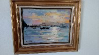 Whangaroa Harbour 1989 21x18 New Zealand Original Painting by Gaston De Vel - 1