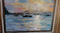 Whangaroa Harbour 1989 21x18 New Zealand Original Painting by Gaston De Vel - 2