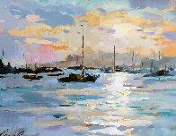 Whangaroa Harbour 1989 21x18 New Zealand Original Painting by Gaston De Vel - 0
