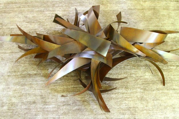 Untitled Unique Steel Sculpture 80x52 Sculpture by Matt Devine