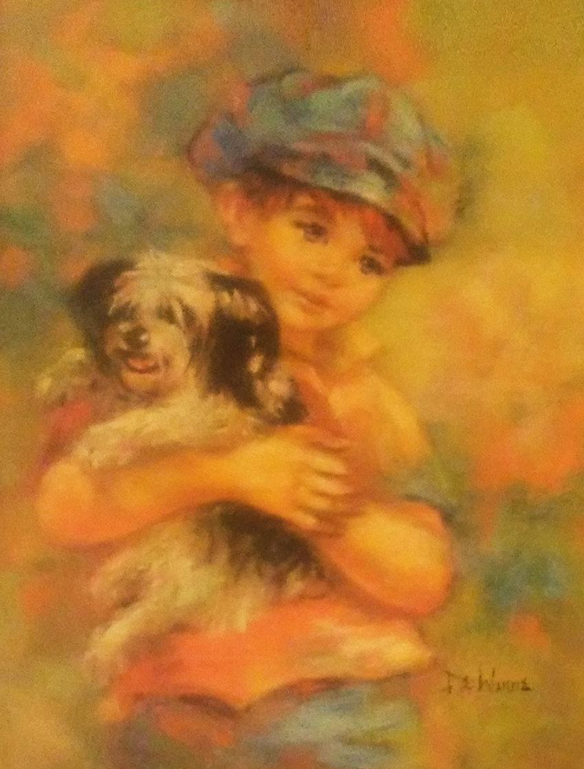 Black Eyed Susan 24x20 Original Painting by Lisette De Winne