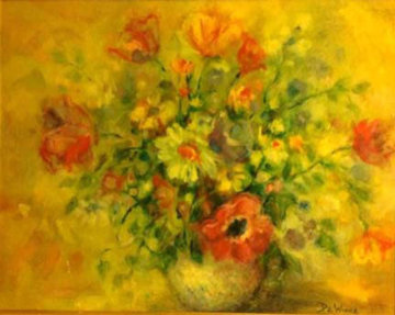 Untitled Painting 1950 35x43 Original Painting - Lisette De Winne