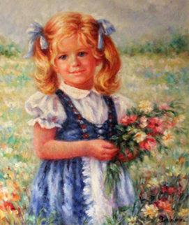 Heidi 1986 29x26 Original Painting - Lisette De Winne
