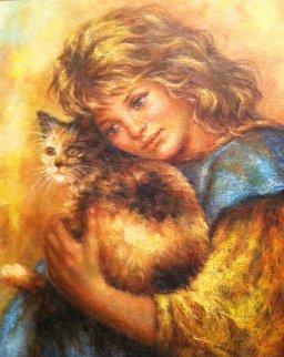 My Pet 2000 29x33 Original Painting by Lisette De Winne