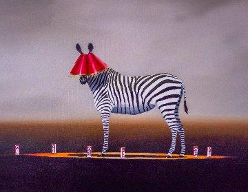 Party Animal 59x70 Original Painting - Robert Deyber