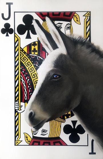 Jack Ass 50x50 Original Painting by Robert Deyber