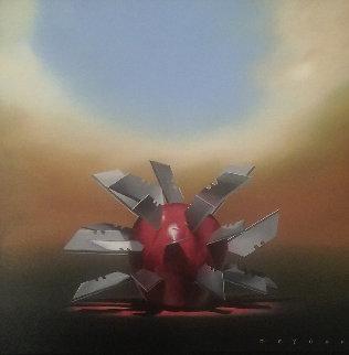 Opposites Attract 29x29 Original Painting - Robert Deyber