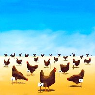 Pecking Order 2007 Limited Edition Print by Robert Deyber - 1