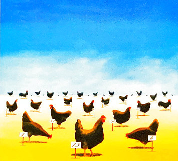 Pecking Order 2007 Limited Edition Print - Robert Deyber