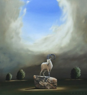 Love And Hate Are Two Horns on the Same Goat II 58x58 Original Painting by Robert Deyber
