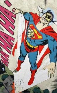 Ha, Ha, Ha Not So Superman AP 2011 Limited Edition Print by  D*Face